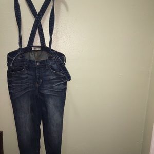 Hollister overall jeans